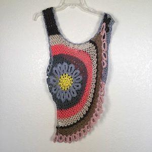 Umgee Open Knit Rainbow Top
